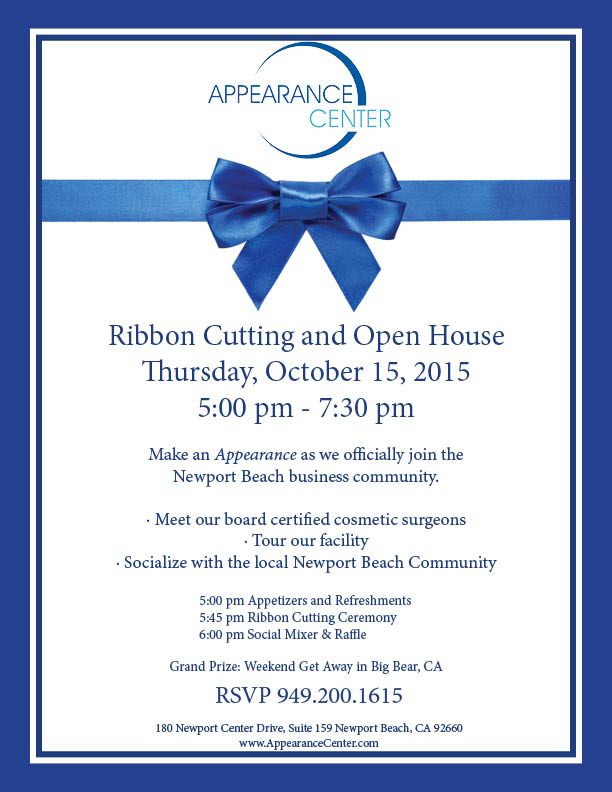 appearance center ribbon cutting